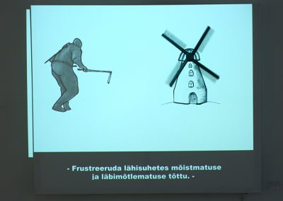 My Noble Fight with Windmills. Video installation on canvas with kinetic object