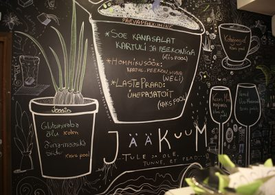 jääkuum blackboard wall drawings