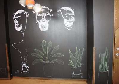 jääkuum drawing on a blackboard wall