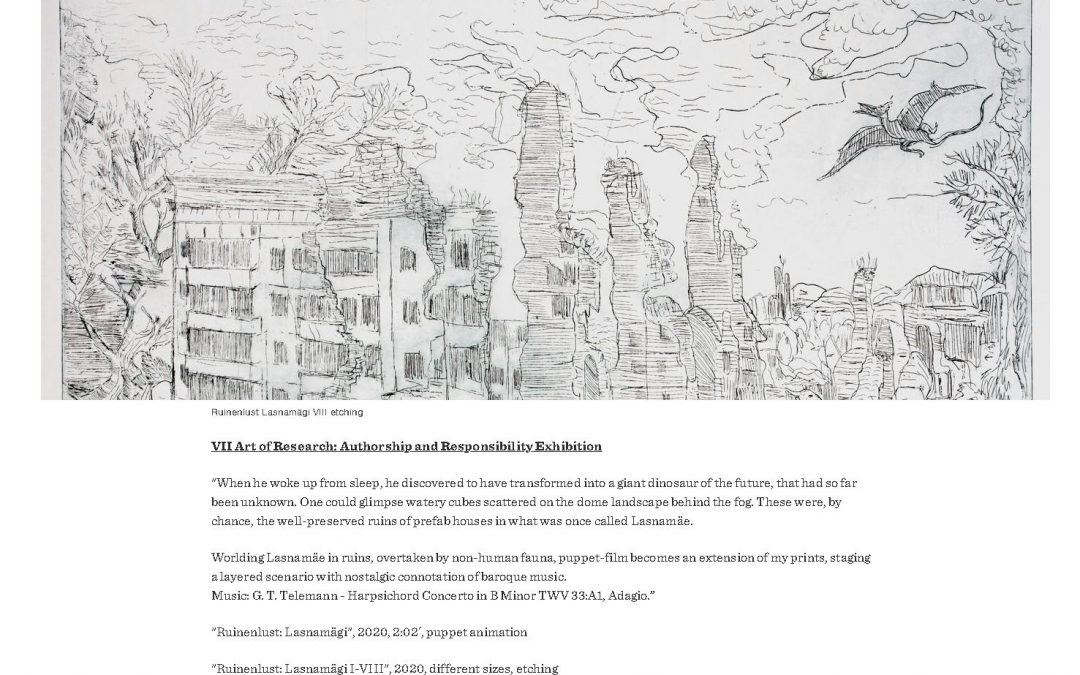 VII Art of Research: Authorship and Responsibility Exhibition
