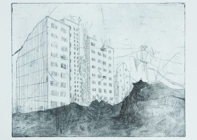 Ruinenlust Lasnamägi V etching aquatint BBenno
