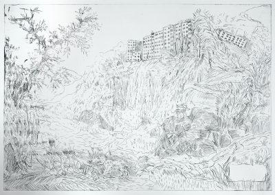 Ruinenlust Lasnamägi VIII etching BBenno